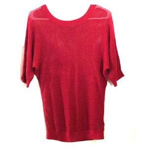 Express Burgundy knitted top.